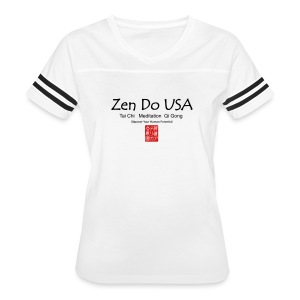 Zen Do USA logo and cell phone clothing busshist - Women's Vintage Sport T-Shirt