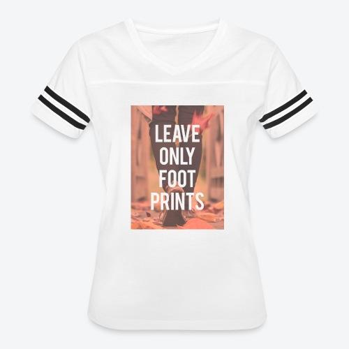 Footprints - Women's Vintage Sport T-Shirt