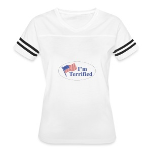 I'm Terrified by Trump - Women's Vintage Sport T-Shirt
