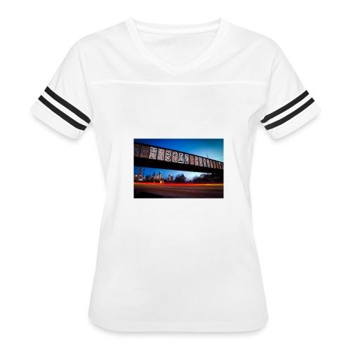 Husttle City Bridge - Women's Vintage Sport T-Shirt