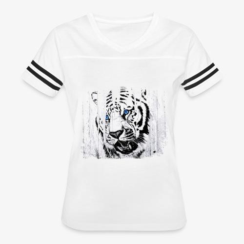 White Tiger Vintage Circus Cartel - Women's Vintage Sport T-Shirt