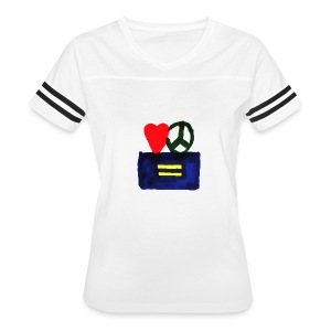 Peace, Love and Equality - Women's Vintage Sport T-Shirt