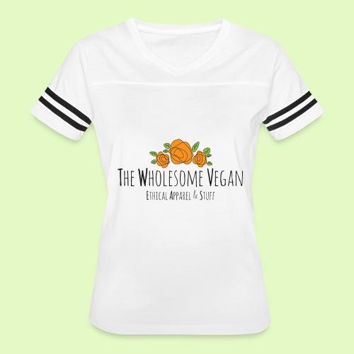 The Wholesome Vegan logo - Women's Vintage Sport T-Shirt