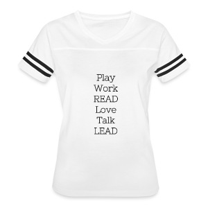 Play_Work_Read - Women's Vintage Sport T-Shirt