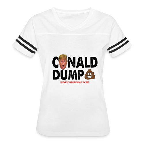 Conald Dump Worst President Ever - Women's Vintage Sport T-Shirt