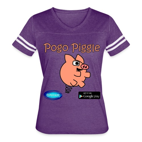 Pogo Piggle - Women's Vintage Sport T-Shirt