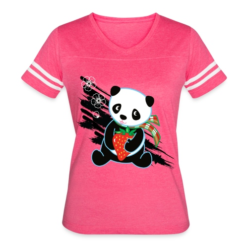 Cute Kawaii Panda T-shirt by Banzai Chicks - Women's Vintage Sport T-Shirt
