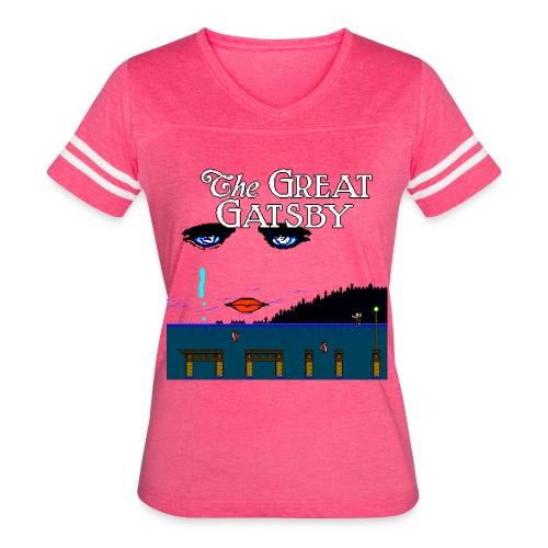Great Gatsby Game Tri-blend Vintage Tee - Women's Vintage Sport T-Shirt