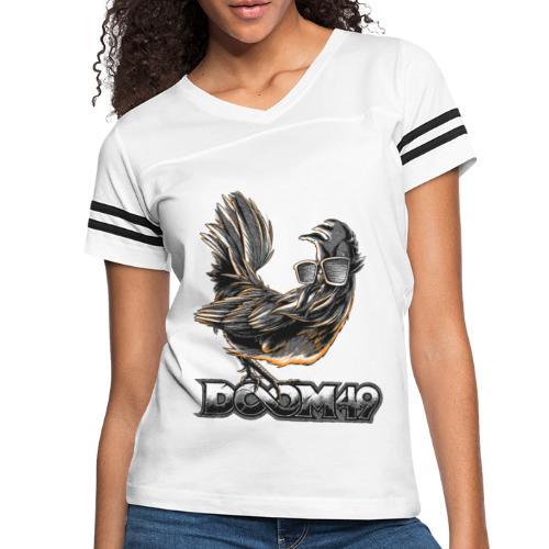 DooM49 Black and White Chicken - Women's Vintage Sport T-Shirt
