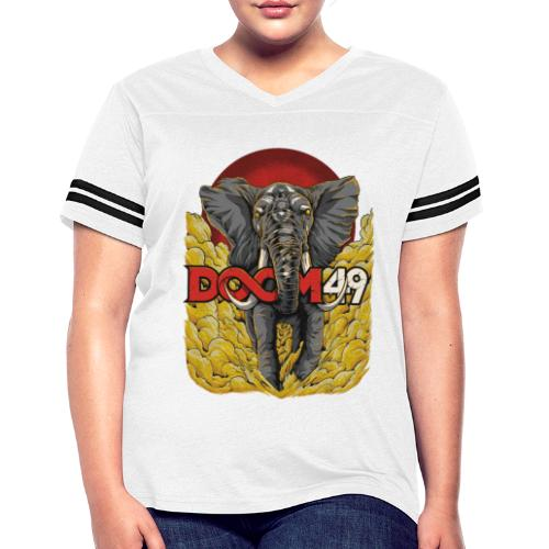 Yellow Smoke Elephant by DooM49 - Women's Vintage Sport T-Shirt