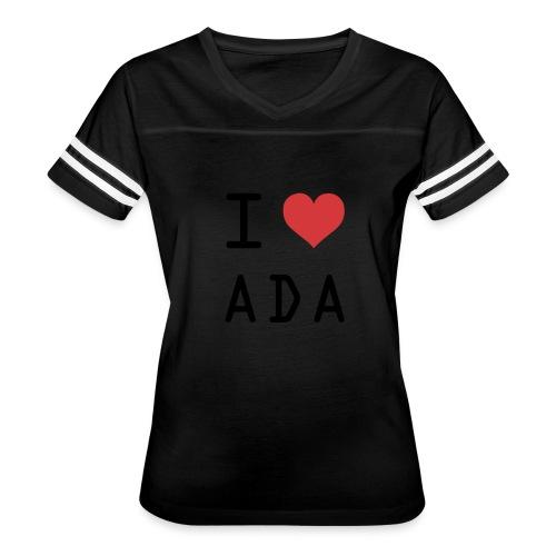 I HEART ADA (Cardano) - Women's Vintage Sport T-Shirt