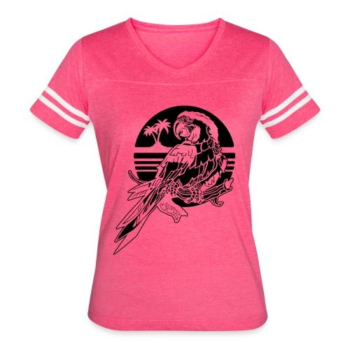 Tropical Parrot - Women's Vintage Sport T-Shirt