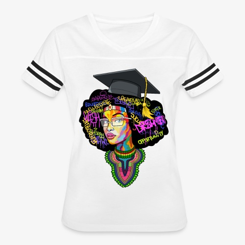 Black Educated Queen School - Women's Vintage Sport T-Shirt