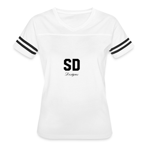 SD Designs blue, white, red/black merch - Women's Vintage Sport T-Shirt