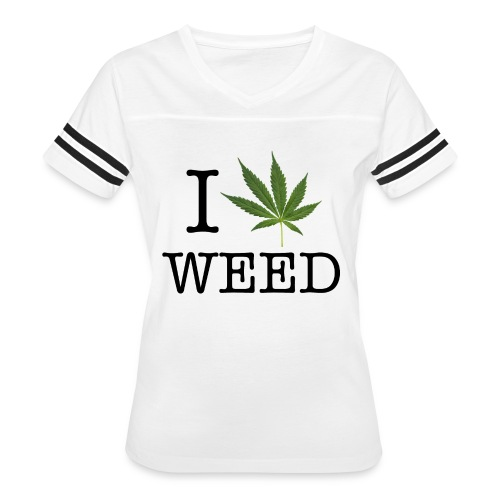 I love weed - Women's Vintage Sport T-Shirt