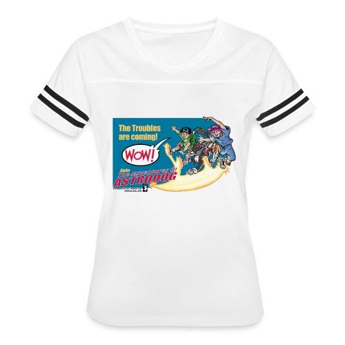 Astrodog Trouble - Women's Vintage Sport T-Shirt