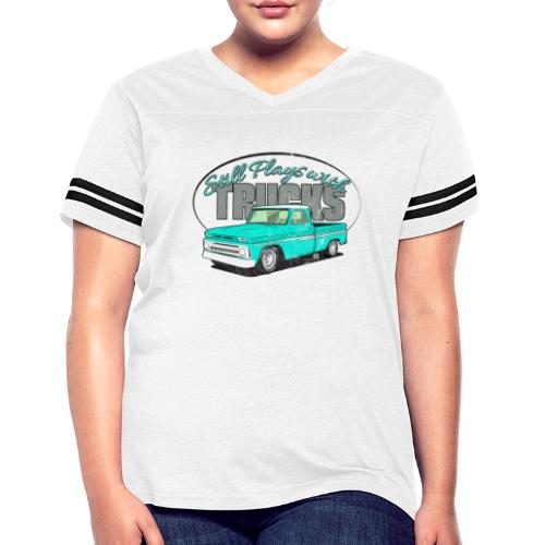 Still65ShortFleet Long Sleeve Tee - Women's Vintage Sport T-Shirt