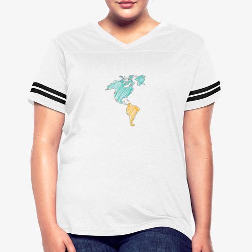 Pencil Crayon Map - Women's Vintage Sport T-Shirt