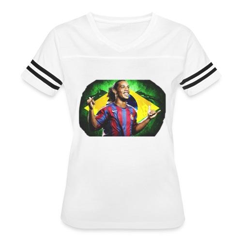 Ronaldinho Brazil/Barca print - Women's Vintage Sport T-Shirt
