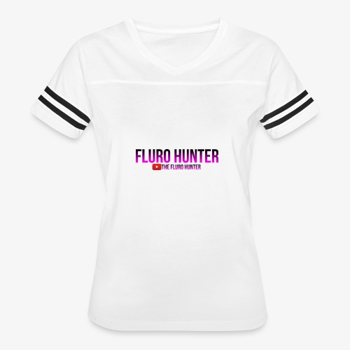 The Fluro Hunter Black And Purple Gradient - Women's Vintage Sport T-Shirt