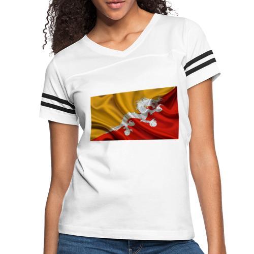 Bhutan Flag - Women's Vintage Sports T-Shirt