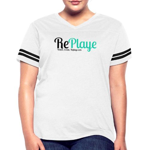 Replaye Black on White - Women's Vintage Sport T-Shirt