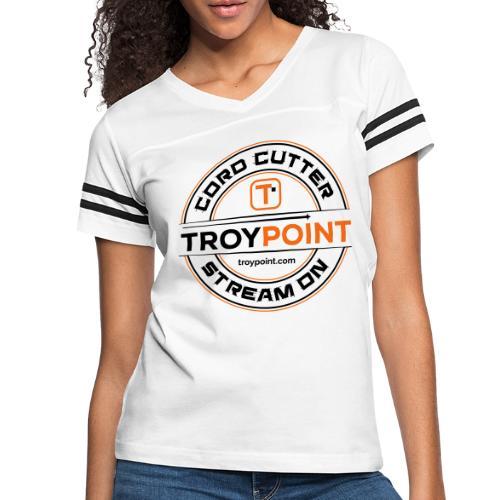 TROYPOINT Cord Cutter - Navy Logo - Women's Vintage Sport T-Shirt