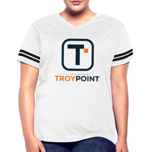 TROYPOINT Navy Logo - Women's Vintage Sport T-Shirt