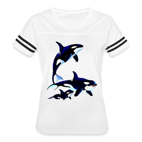 Killer Whale Family - Women's Vintage Sport T-Shirt