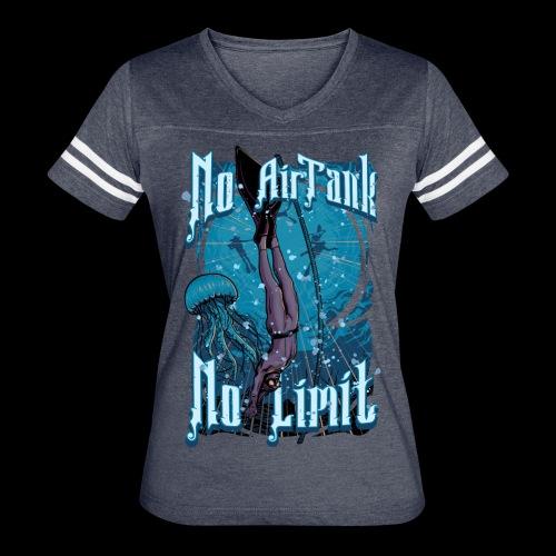 No Air Tank No Limit Freediving merchandise - Women's Vintage Sport T-Shirt