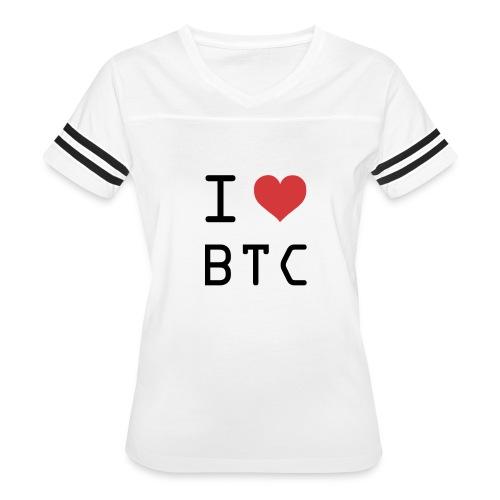 I HEART BTC (Bitcoin) - Women's Vintage Sport T-Shirt