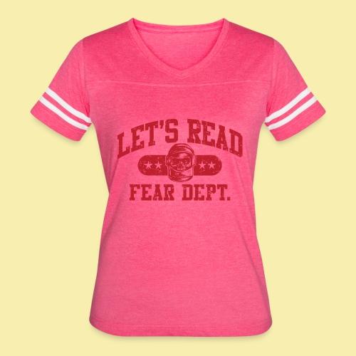Athletic - Fear Dept. - RED - Women's Vintage Sport T-Shirt