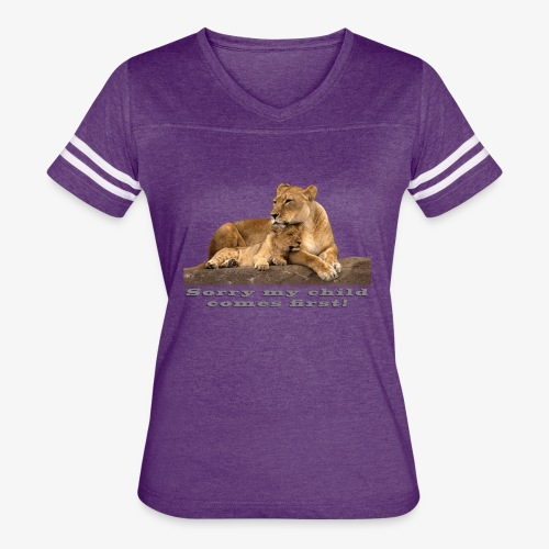 Lion-My child comes first - Women's Vintage Sport T-Shirt