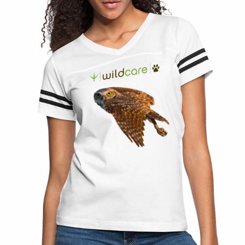 Burrowing Owl in Flight - Women's Vintage Sport T-Shirt
