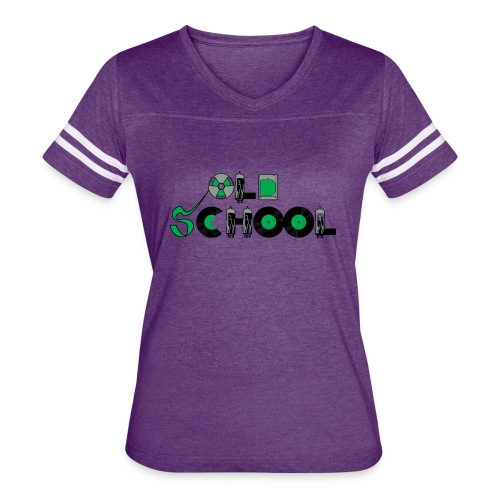 Old School Music - Women's Vintage Sport T-Shirt