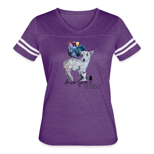 Drink & Farm Logo - Women's Vintage Sport T-Shirt