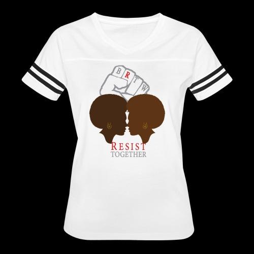 Resist Together Shirt 2 Women png - Women's Vintage Sport T-Shirt