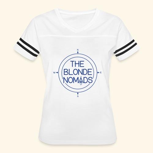 The Blonde Nomads Blue Logo - Women's Vintage Sport T-Shirt