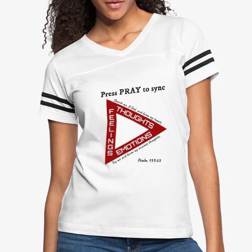 Press PRAY to Sync - Women's Vintage Sport T-Shirt