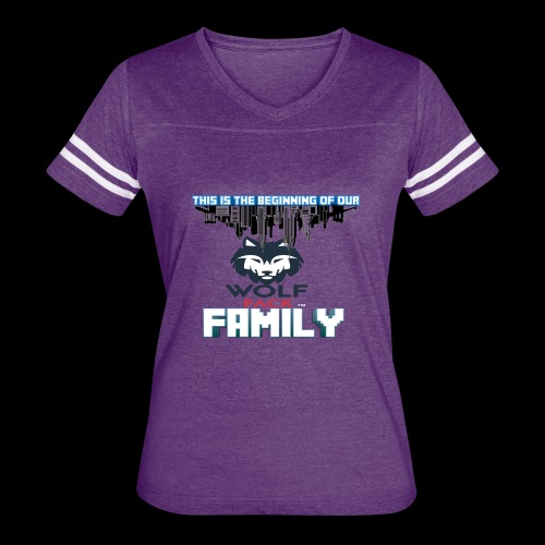 We Are Linked As One Big WolfPack Family - Women's Vintage Sport T-Shirt
