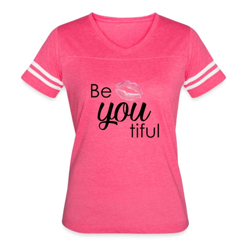 Be-You-Tiful Lip Logo - Women's Vintage Sport T-Shirt