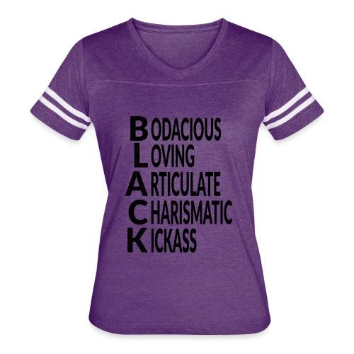 T SHIRT Black - Women's Vintage Sport T-Shirt