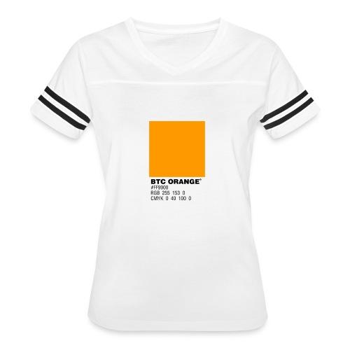 BTC Orange (Bitcoin Tshirt) - Women's Vintage Sport T-Shirt