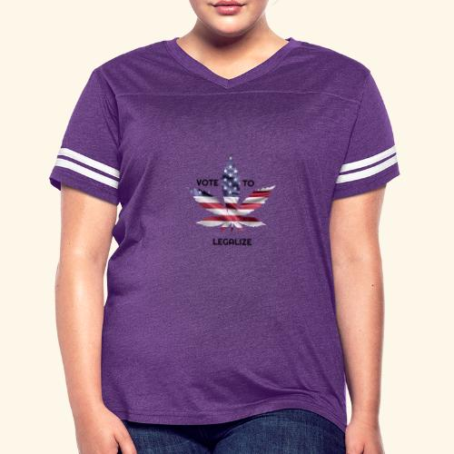 VOTE TO LEGALIZE - AMERICAN CANNABISLEAF SUPPORT - Women's Vintage Sport T-Shirt