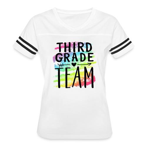 Third Grade Team Crayon Splash Teacher T-Shirts - Women's Vintage Sport T-Shirt