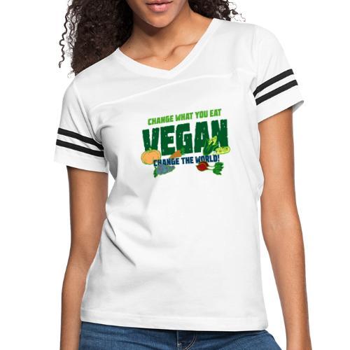 Change what you eat, change the world - Vegan - Women's Vintage Sport T-Shirt