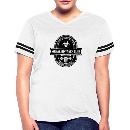 SOCIAL DISTANCE CLUB - Women's Vintage Sport T-Shirt