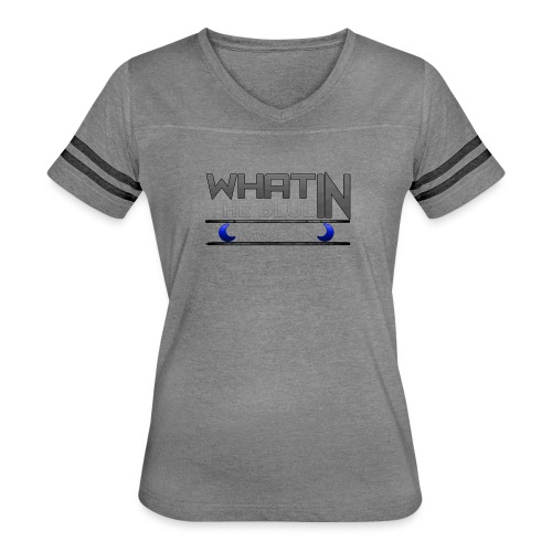 What in the BLUE MOON T-Shirt - Women's Vintage Sport T-Shirt