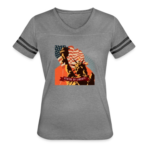 Statue of Liberty - Women's Vintage Sport T-Shirt