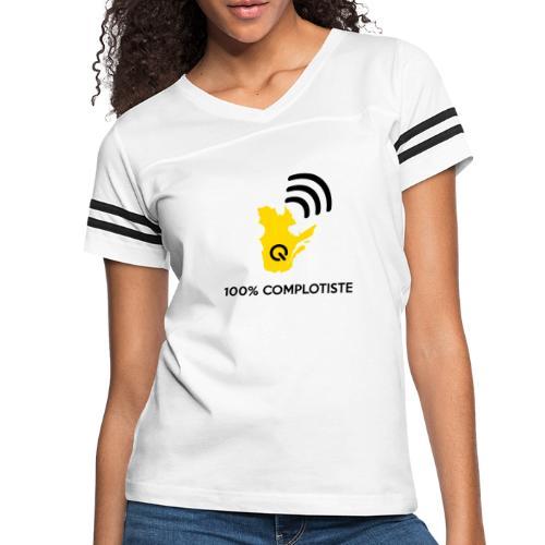 100% complotiste - T-shirt sport rétro pour femmes